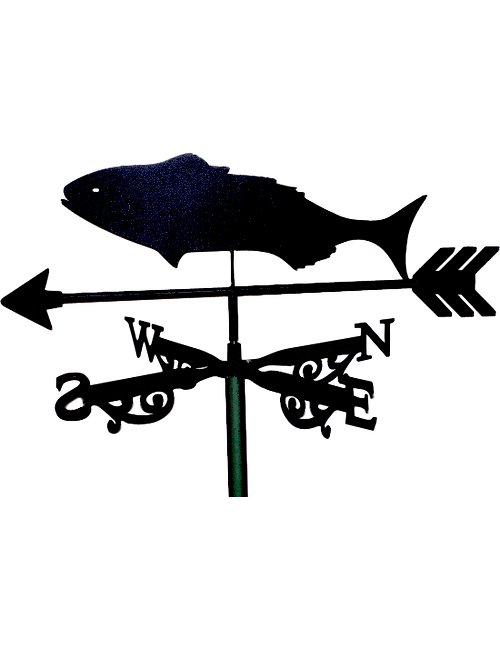Black FishX 1 1 500x650 - Black Fish Weathervane