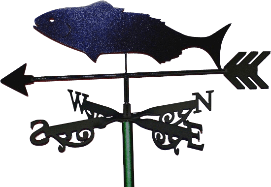 Black FishX 1 - Black Fish Weathervane