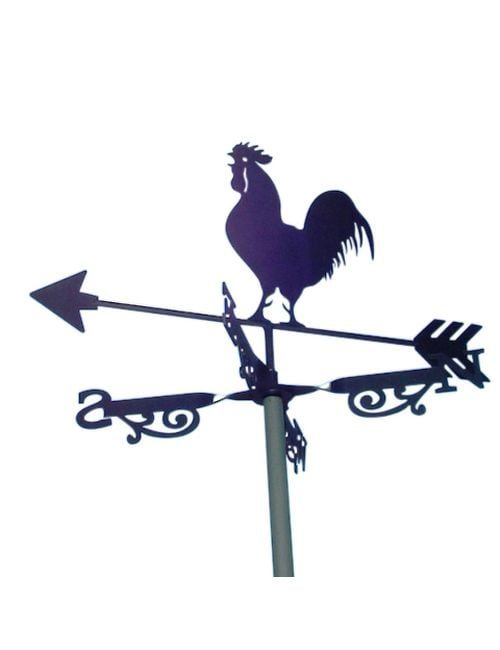 Black Rooster x 1 500x650 - Black Rooster Weathervanes