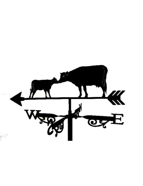 Cow CalfF1020001 1 1 - Cow And Calf Weathervane