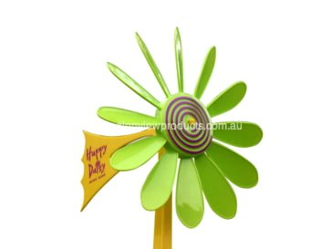 Green Daisy Vane 2 - Happy Daisy Windvane