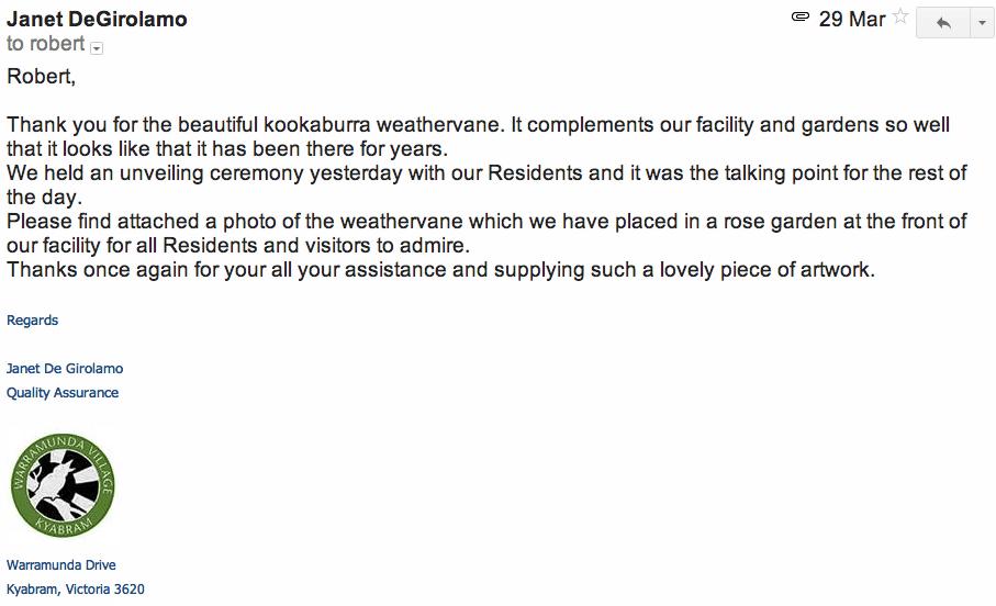 Kookaburra-Weathervane-Warramunda