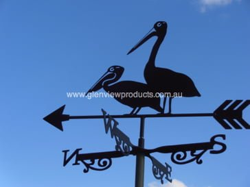 Pelicans x 2 R2 Testimonial: Back Rooster Weathervane Caringbah NSW