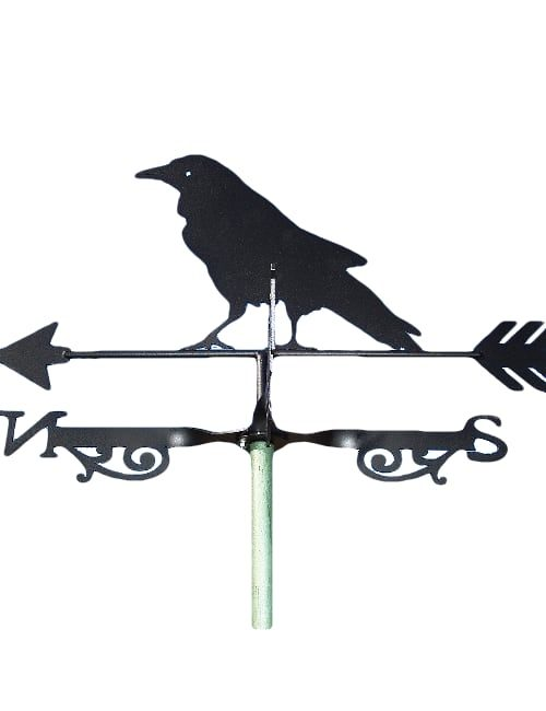 Raven weathervane 500x650 - Raven Blackbird Weathervane