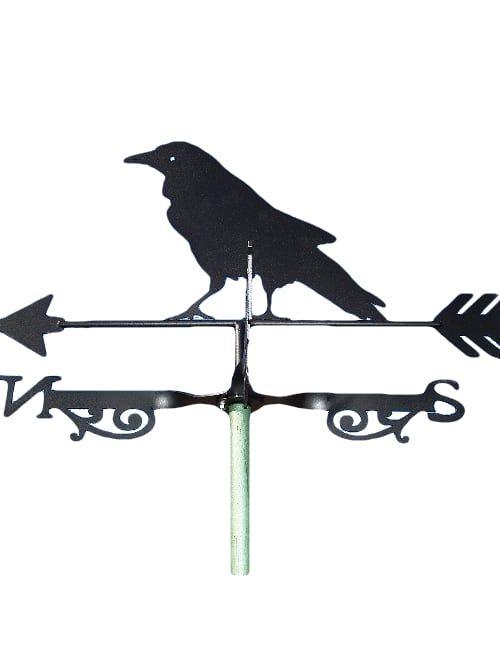 Raven weathervane 500x650 - Raven Blackbird Weathervane
