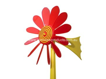 Red Daisy Vane X - Happy Daisy Windvane