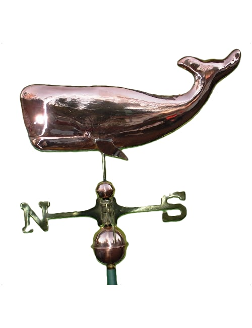 Polished copper whale