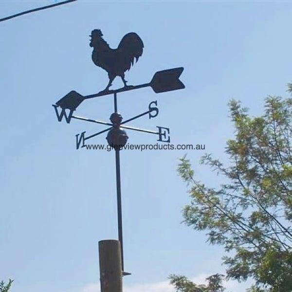 Black Rooster Weathervanes