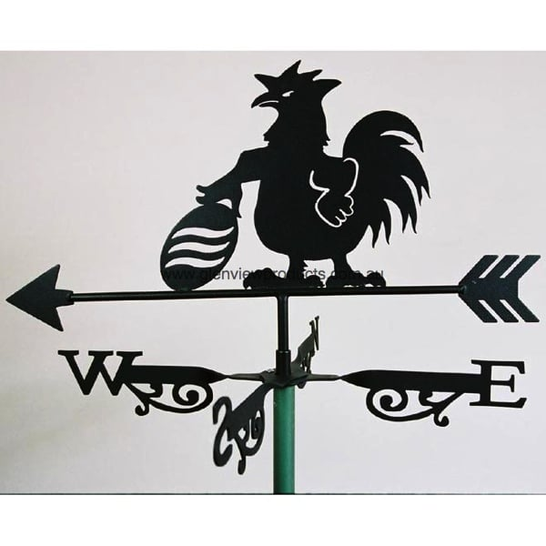Football Rooster Weathervane