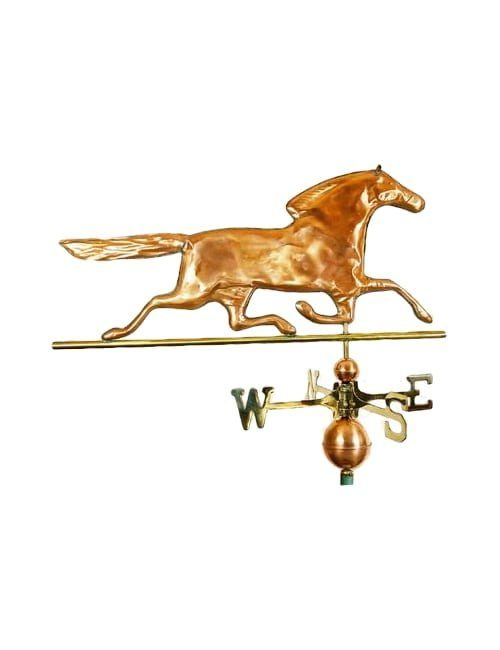 horse weathervane polished 500x650 - Horse Weathervane Polished