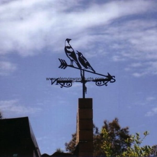 Magpies Weathervane Mascot