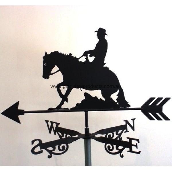 Rider And Quarter Horse Weathervane