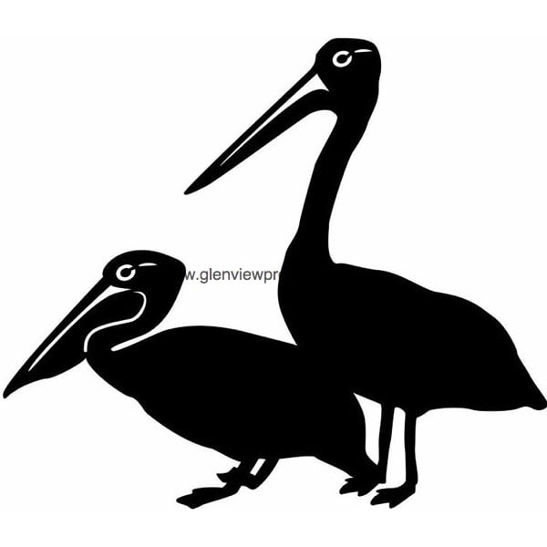Two Pelicans Weathervane