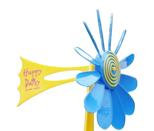 Blue Daisy Vane 2 - Happy Daisy Windvane