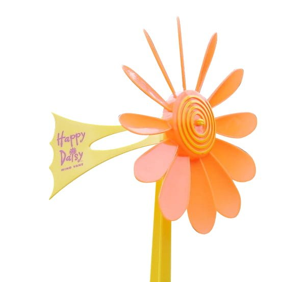 Orange Daisy Vane 4 - Happy Daisy Windvane