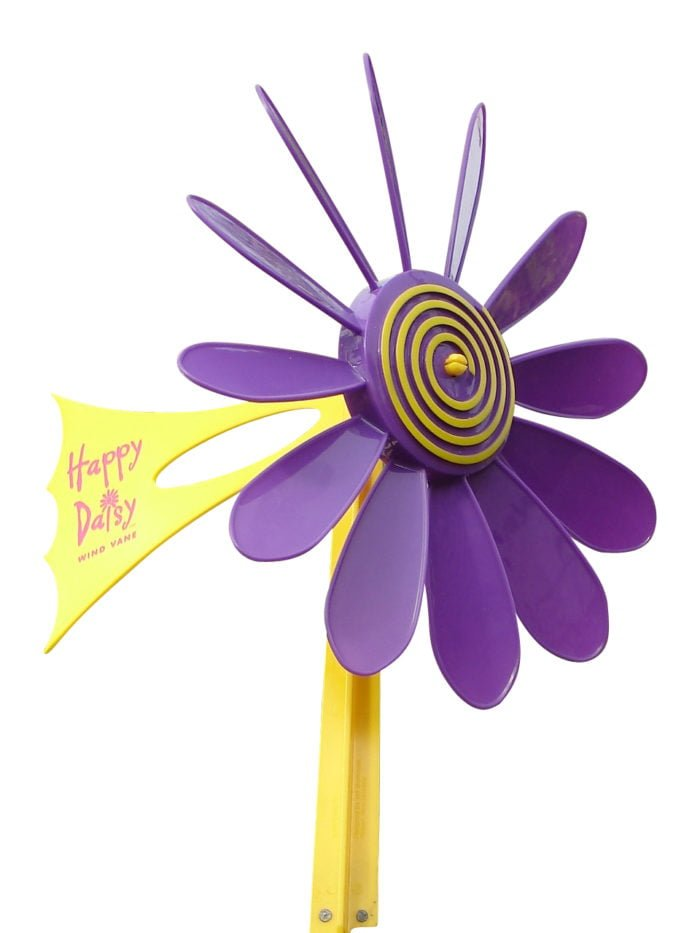 Purple Daisy Vane 3 700x933 - Happy Daisy Windvane