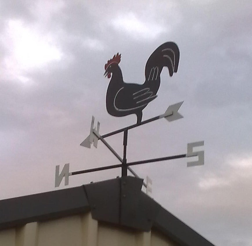 Rooster Cottage Style Weathervane