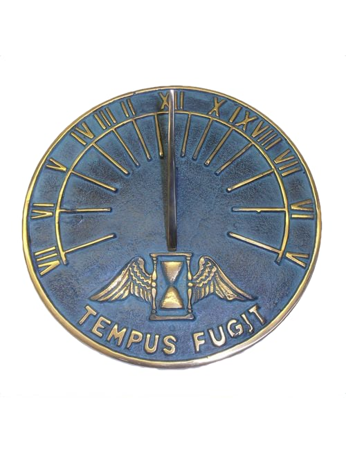 Round Hourglass Sun Dial - Round Hourglass Antiqued Sundial