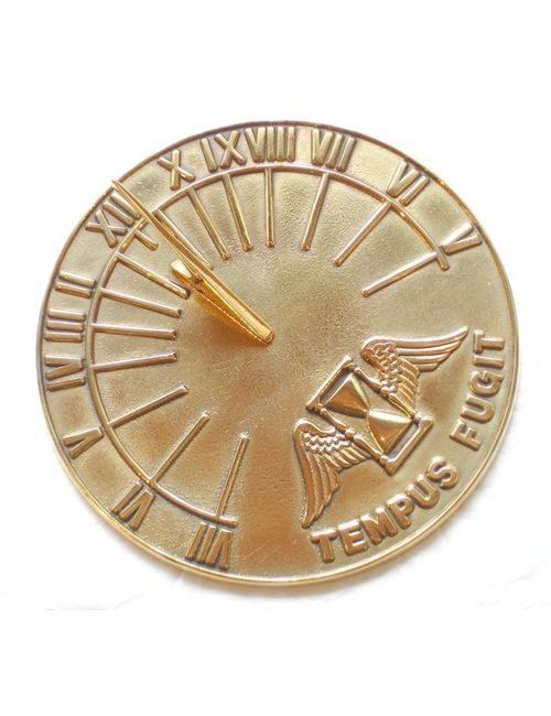 Tepus Fugit Brass Sundials 016 500x650 - Latin Round Polished Sundial