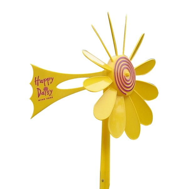Yellow Daisy Vane 2 - Happy Daisy Windvane