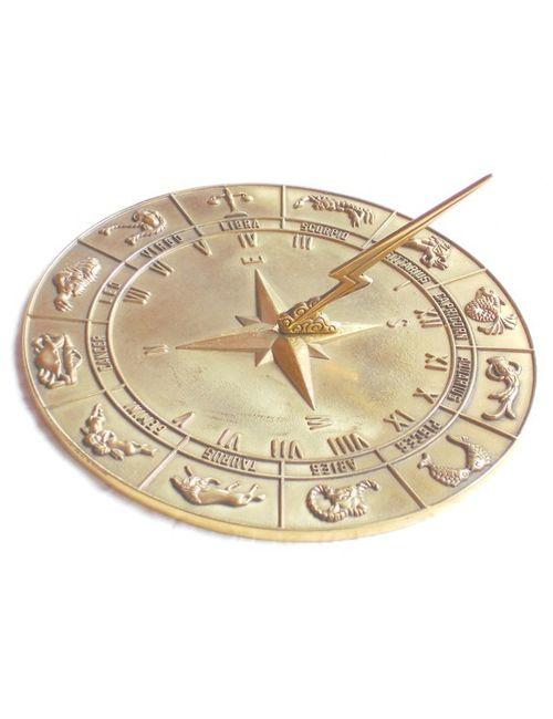 Zodiac Polished Sun Dial 1 - Zodiac Sun Dial Polished Brass