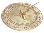 Zodiac Polished Sun Dial