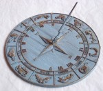 Zodiac antiqued Sun Dial