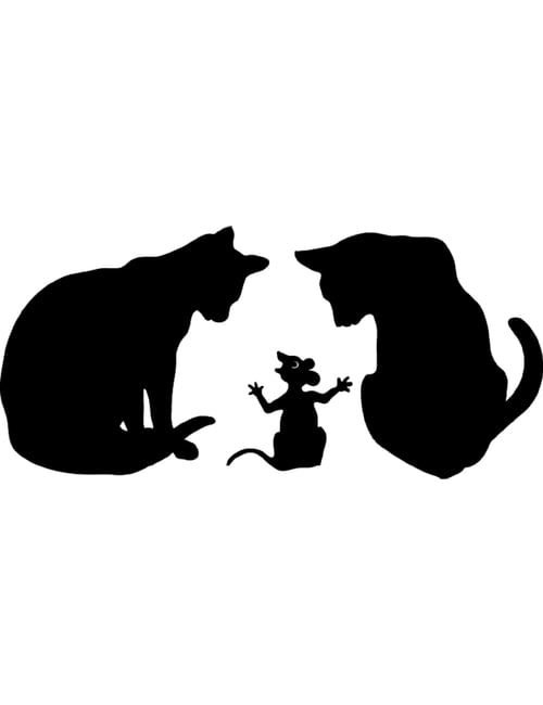 catsnmouse 500x650 - Cats and Mouse Panel
