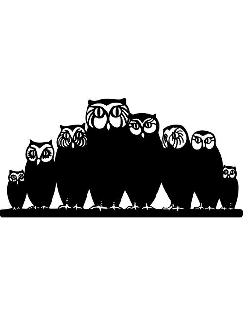 owl family - Owl Family Panel