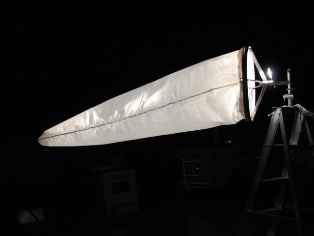 8ft windsock illuminated - 12V - 100 watt shown