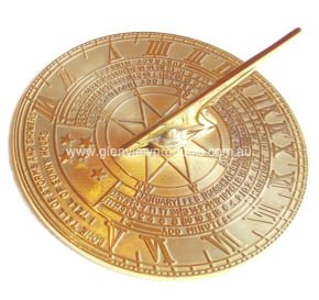 Classic Large  Brass Sundial 3, 019 Testimonial: Equatorial Sun Dial At Demassi Flowers