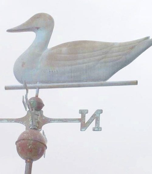 Duck weathervane Verdi 500x573 - Pintail Drake Weathervane Antiqued