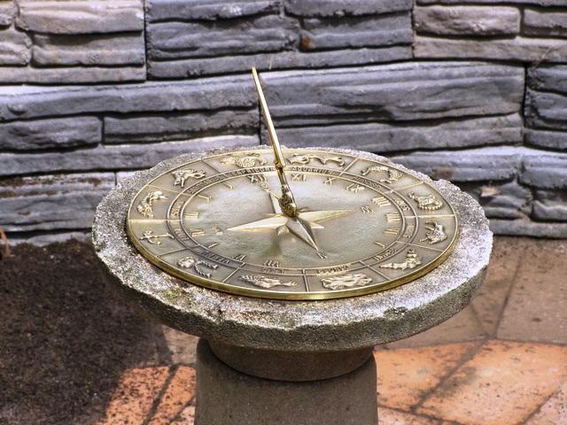 IMG 1604 - Zodiac Sun Dial Polished Brass