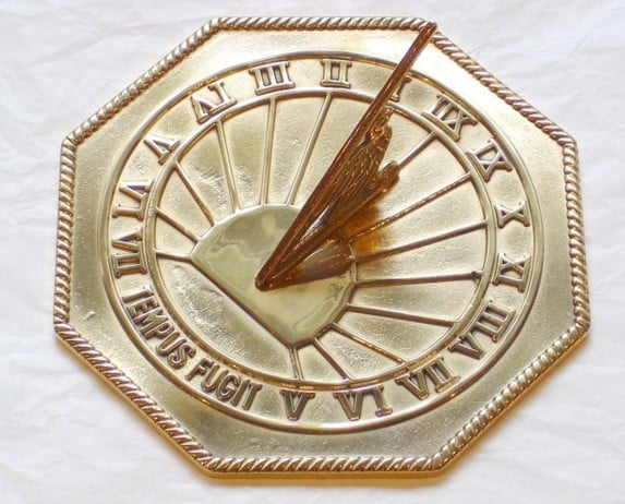 OctaganolPolished Time Flies Sun Dial