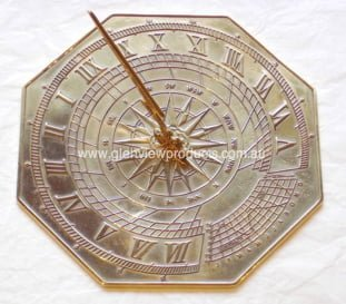 Octagonal small Polished 1 Testimonial: Equatorial Sun Dial At Demassi Flowers