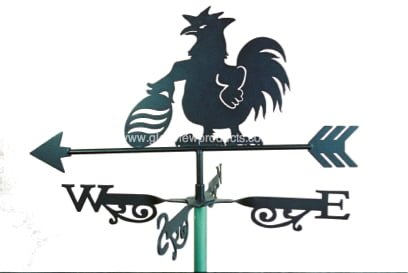 Aussie Football rooster - Black Rooster Weathervanes
