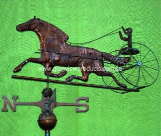Trotter Verdi 3 Testimonial: Horse Weathervane