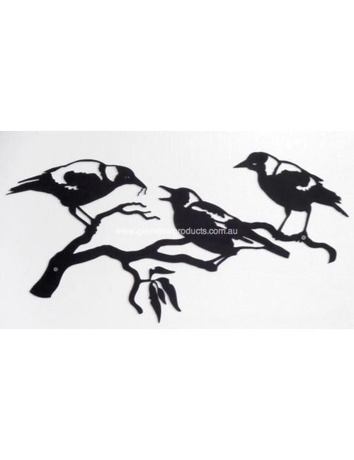 Magpie Family1 1 500x650 - Magpies Family Panel