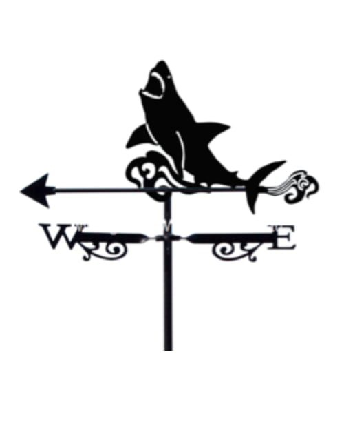 Great White Weathervane 1 500x650 - Shark White Pointer Weathervane.