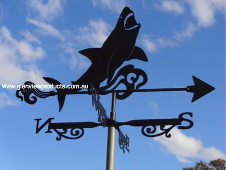 Shark L1 - Shark White Pointer Weathervane.