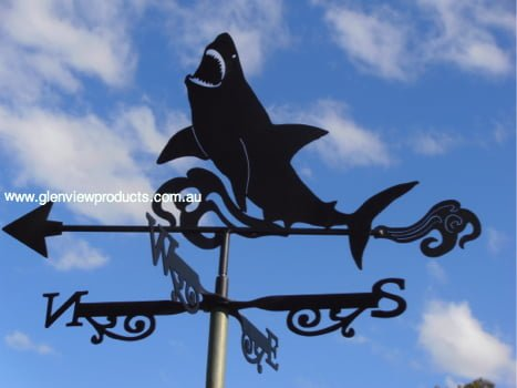 Shark R2 - Shark White Pointer Weathervane.