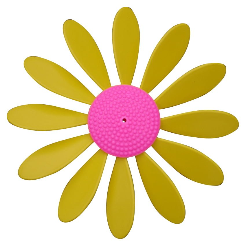 Spinning Happy Daisy Yellow - Pink