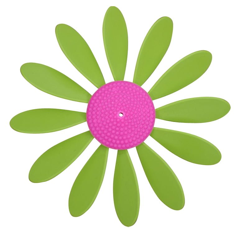 Spinning Happy Daisy Lime Green - Pink