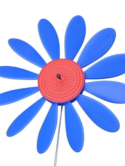 Spinning Happy Daisy Blue -Red
