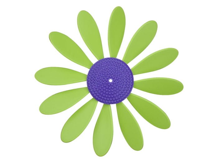 Spinning Happy Daisy Lime Green - Purple