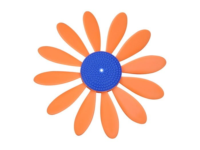 Spinning Happy Daisy Orange - Blue