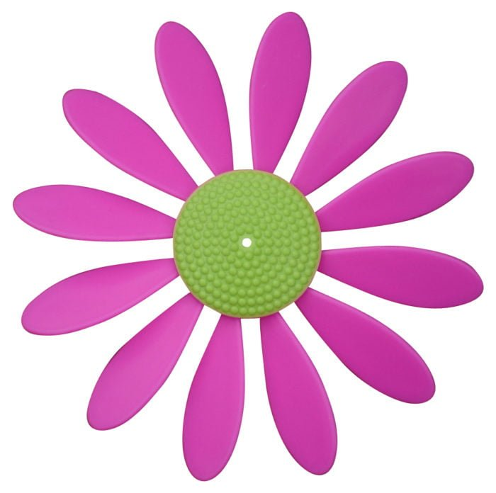 Spinning Happy Daisy Pink - Lime Green