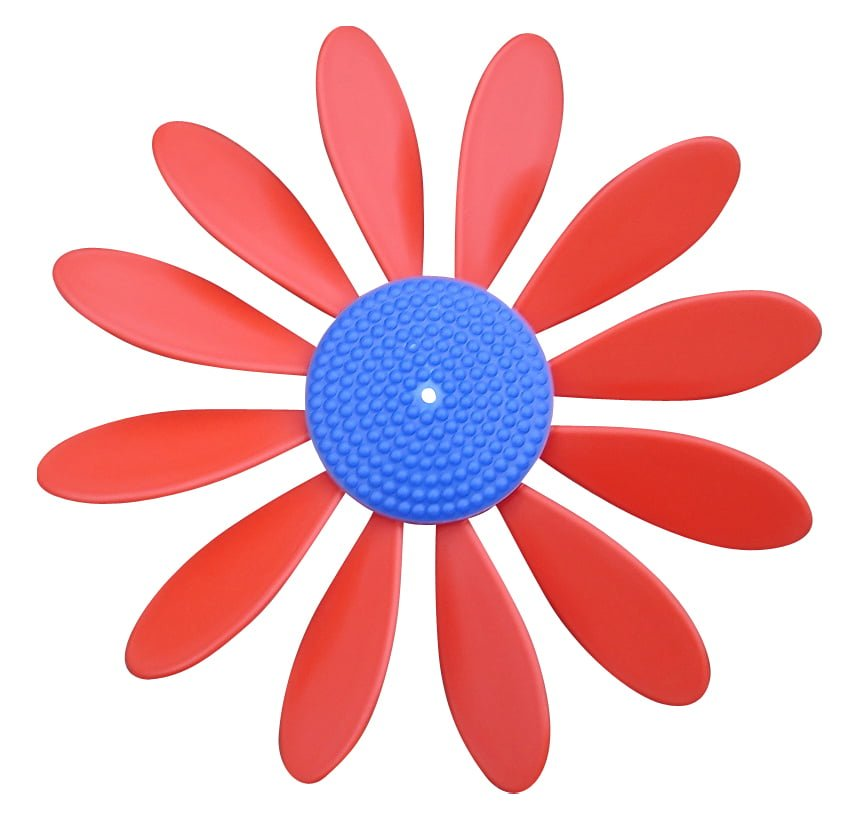 Spinning Happy Daisy Red - Blue