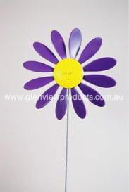 Happy Daisy Windvane Purple with Yellow Centre