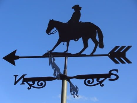 Cow Girl Weathervane